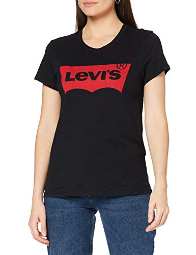 Levi's The Perfect Tee, Camiseta, Mujer, Negro (Large Batwing Black 201), L