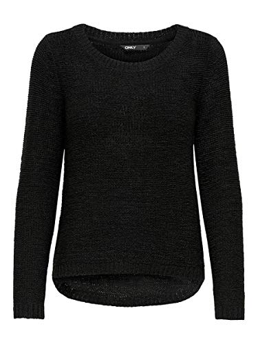 Only onlGEENA XO L/S Pullover KNT Noos Suter Pulver, Negro (Black), XXL para Mujer